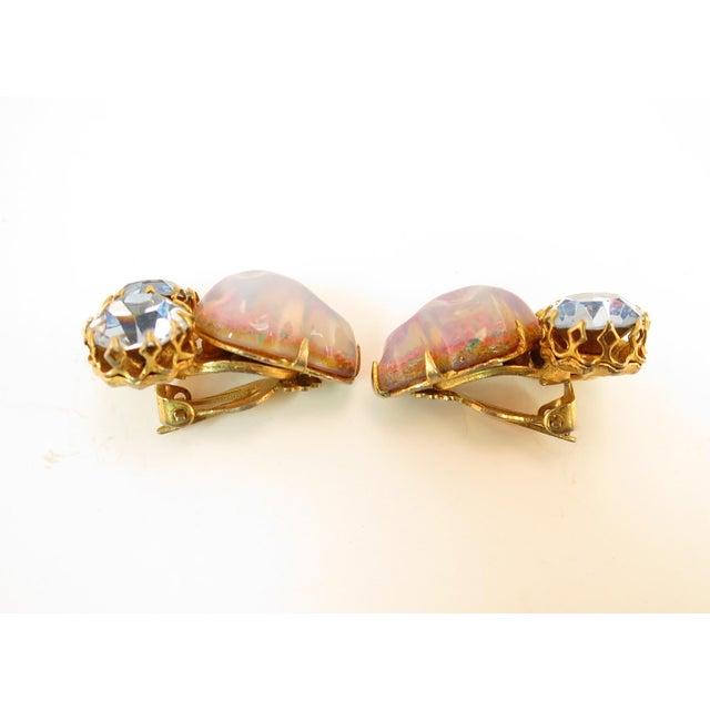 Schiaparelli Opal Art Glass Bracelet Suite 1950s For Sale - Image 10 of 13