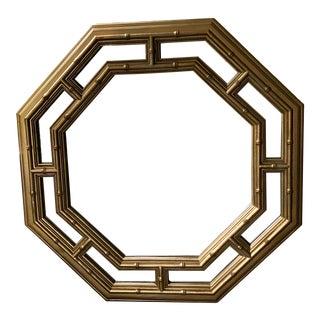 Regency Octagonal Bamboo Wall Mirror For Sale