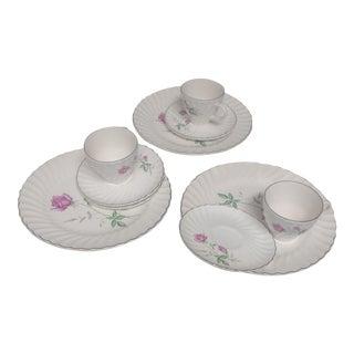 Vintage Porcelain Serving Dishes Set - 9 Piece For Sale