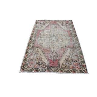 Vintage Oriental Floor Turkish Oushak Carpet For Sale