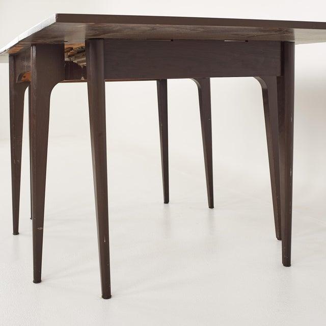 Kroehler Refinished Mid Century Drop Leaf Dining Table For Sale - Image 9 of 12