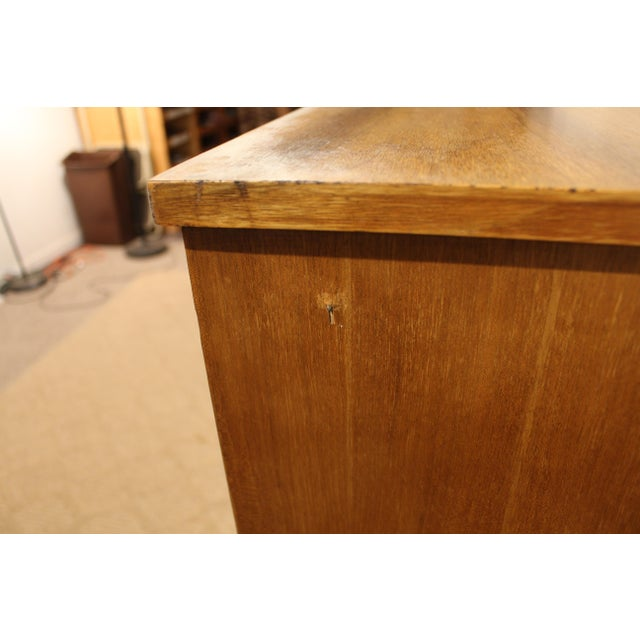 Walnut Mid-Century Danish Modern Curved Front Walnut Tall Chest Dresser For Sale - Image 7 of 11