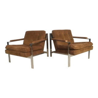 Vintage Modern Chrome Lounge Chairs by Cy Mann For Sale
