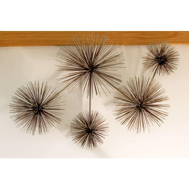 Brass 1970s Mid-Century Modern Curtis Jere Signed Brass Pom Wall Sculpture For Sale - Image 7 of 7