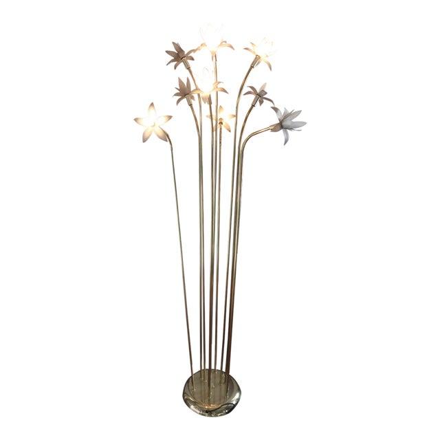 Vintage Mid-Century Modern Lotus Floor Lamp For Sale