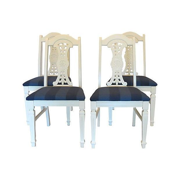 Vintage 1970s Medallion Dining Chairs - Set of 4 - Image 1 of 5