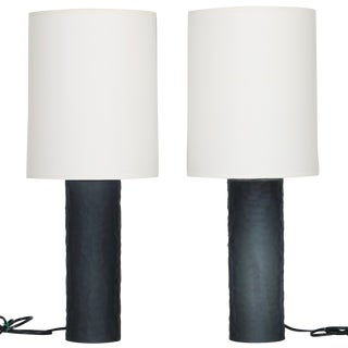 Murano Glass Lamps by Vivarini With Shades - a Pair For Sale