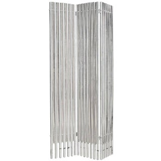 Lucite and Aluminum Folding Screen Wall Divider by Charles Hollis Jones For Sale