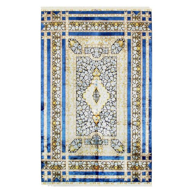 Pasargad Herekeh Qum Design Silk Rug- 4' X 6' For Sale