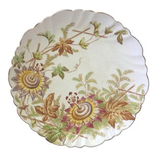 19th Century English Passiflora Plate For Sale