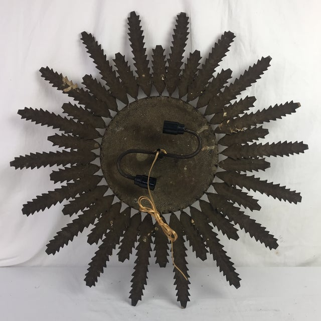 French Electrified Gilt Sunburst - Image 3 of 4