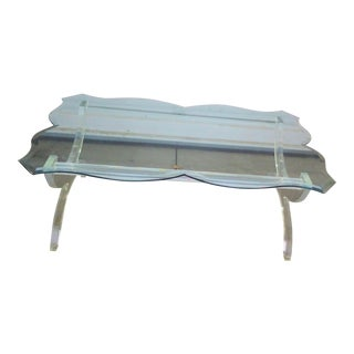 C. Hollis Jones Style Lucite Coffee Table For Sale