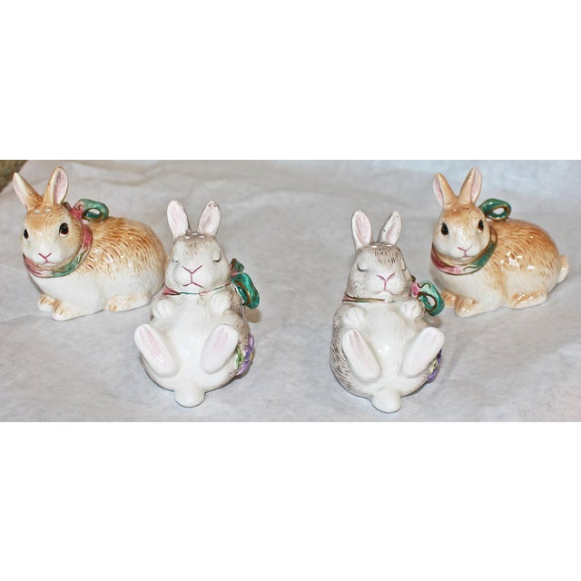 Fitz and Floyd Bunny Rabbit Shakers - Set of 4 - Image 2 of 11