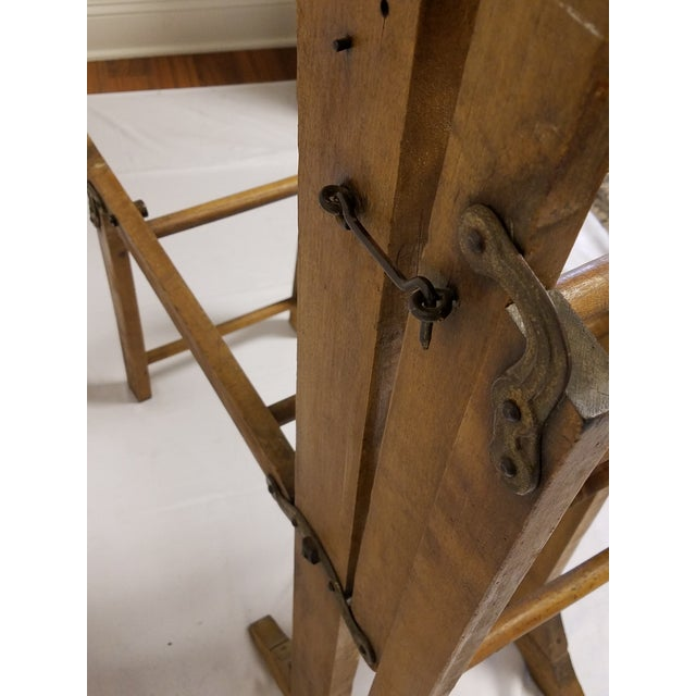 Antique Amish Handmade Hardwood Clothes Wringer For Sale In Baltimore - Image 6 of 7
