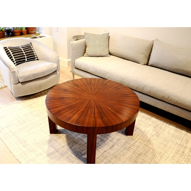 Art Deco Jean Michel Frank Style Circular Wood Coffee Table - Image 5 of 9