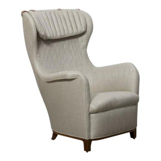 CARL MALMSTEN Chair with Pillow ca. 1940 For Sale