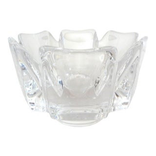 Late 20th Century Orrefors Corona Design Crystal Bowl by Jan Johhanson For Sale