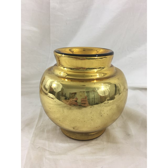 Large Antique Gold Mercury Glass Vase Chairish