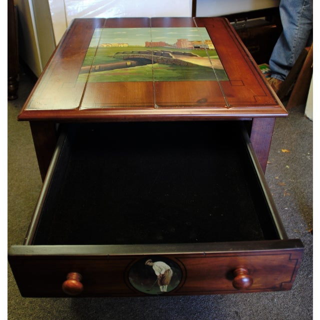 "St. Andrews ""Ireland"" Golf Club Side Table For Sale - Image 5 of 9"