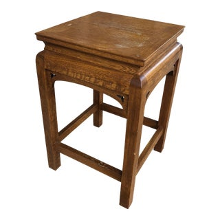 Stickley Small Square Oak Table / Stool For Sale
