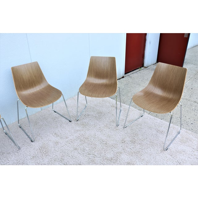 Mid-Century Modern Mid-Century Modern Style Allermuir Curve Dining or Stacking Side Chairs- Set of 6 For Sale - Image 3 of 13