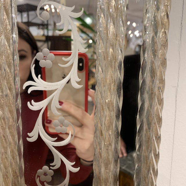 Vintage Murano Mirror For Sale - Image 10 of 13