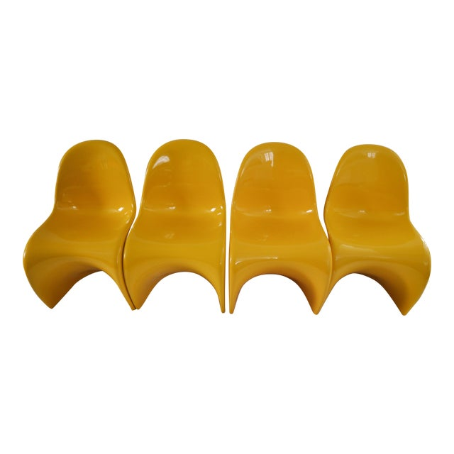 "Verner Panton ""S"" Chair - Set of 4 For Sale"