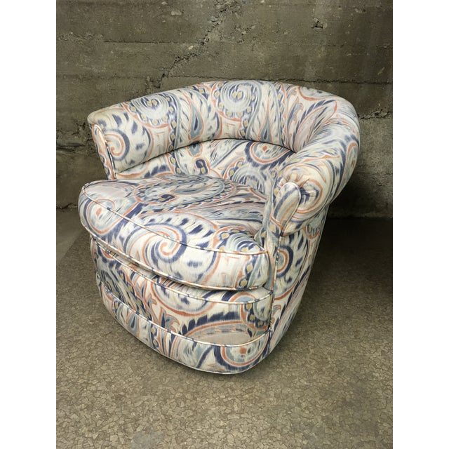 1990s 1990s Vintage Custom Sculptural Swivel Club Chairs- A Pair For Sale - Image 5 of 10