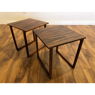 Danish Modern Old Growth Rosewood Small Side Tables, a Pair Preview