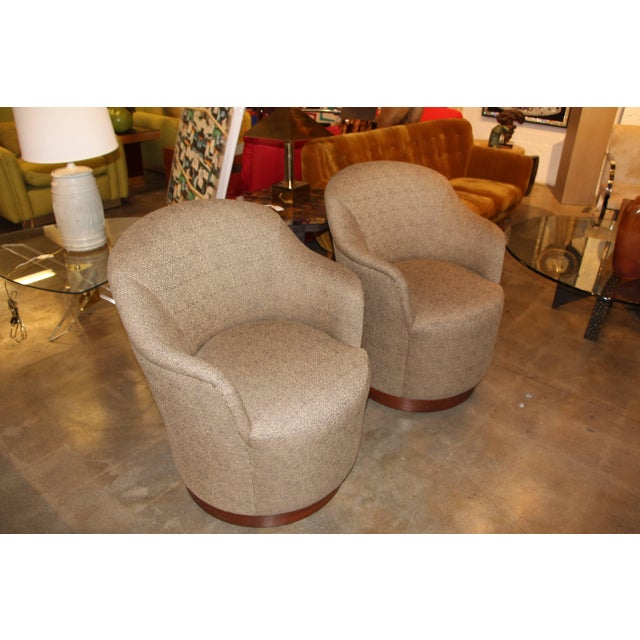 Modern J. Robert Scott Swivel Chairs- A Pair For Sale - Image 3 of 9