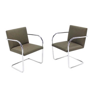 Pair of Mies Brno Side office dining Chairs for Knoll For Sale