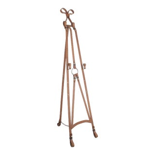 Faux Leather Wrought Iron Easel, 1950 For Sale