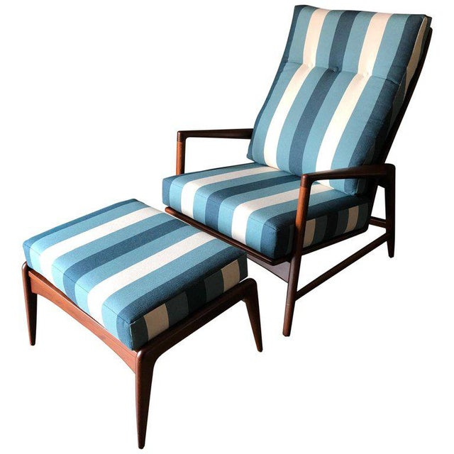 1960s Vintage I.B. Kofod Larsen for Selig Reclining Chair & Ottoman - 2 Pieces For Sale - Image 12 of 12