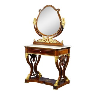French Double Dressing Table For Sale
