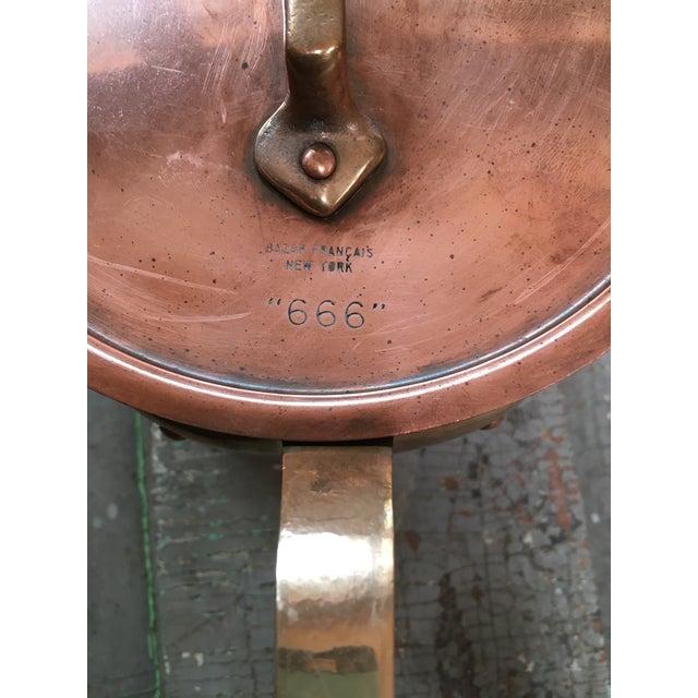 Bazar Francais Copper #14 Saucepan with Lid For Sale - Image 4 of 8