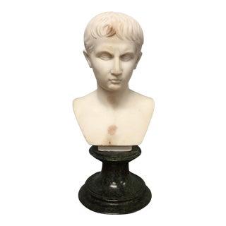 19th Century Italian Grand Tour Marble Bust of Caesar Augustus