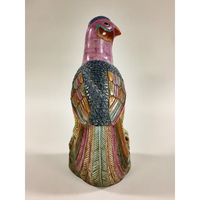 Vintage Colorful Peacock Figurine For Sale - Image 4 of 5
