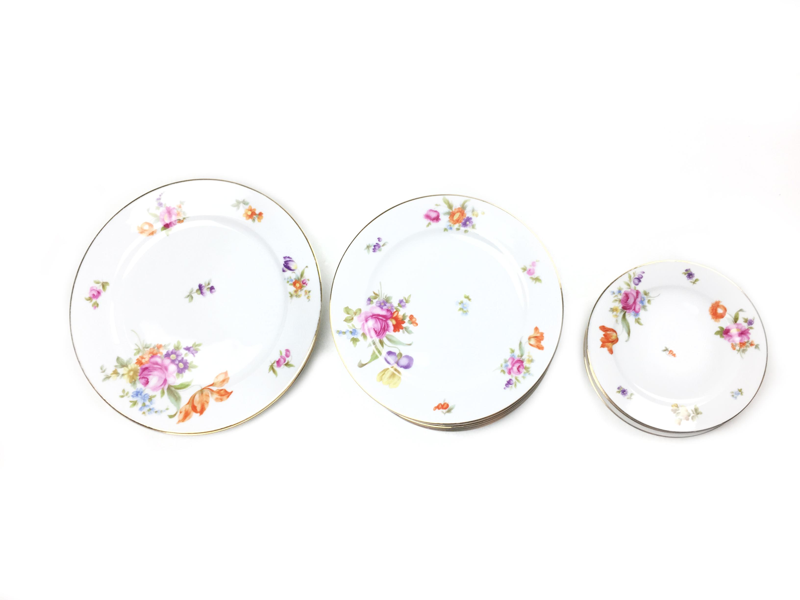 1930s Vintage Thomas Bavaria Floral Fine China Set - Image 2 of 6  sc 1 st  Chairish & 1930s Vintage Thomas Bavaria Floral Fine China Set | Chairish