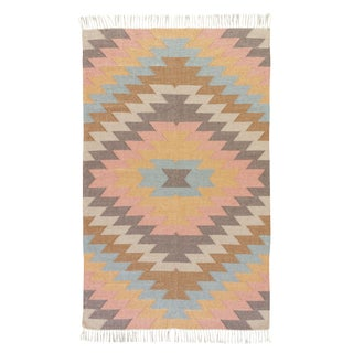 Jaipur Living Mojave Indoor/ Outdoor Geometric Multicolor Area Rug - 3′6″ × 5′6″ For Sale