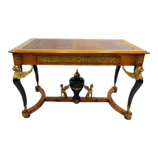 19th Century French Empire Writing/Centre Table For Sale