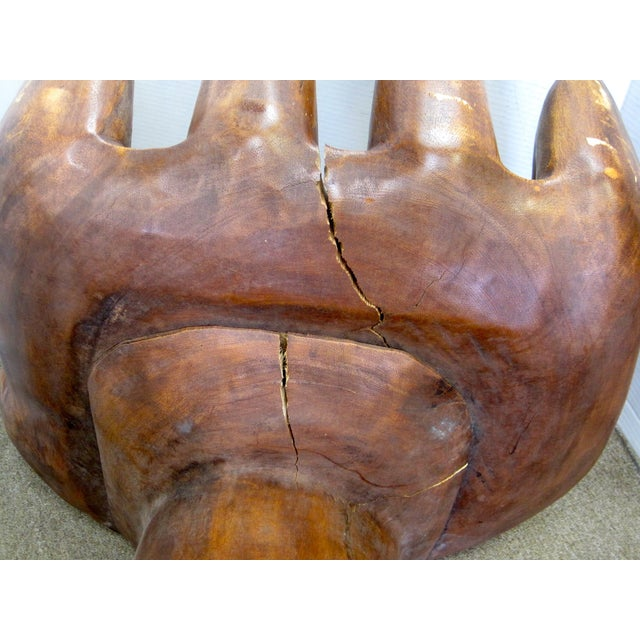 1960s Carved Hand Chair For Sale - Image 7 of 8