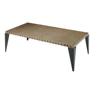 Carlo Furniture Brass Terrazzo Post Modern Style Coffee Table For Sale