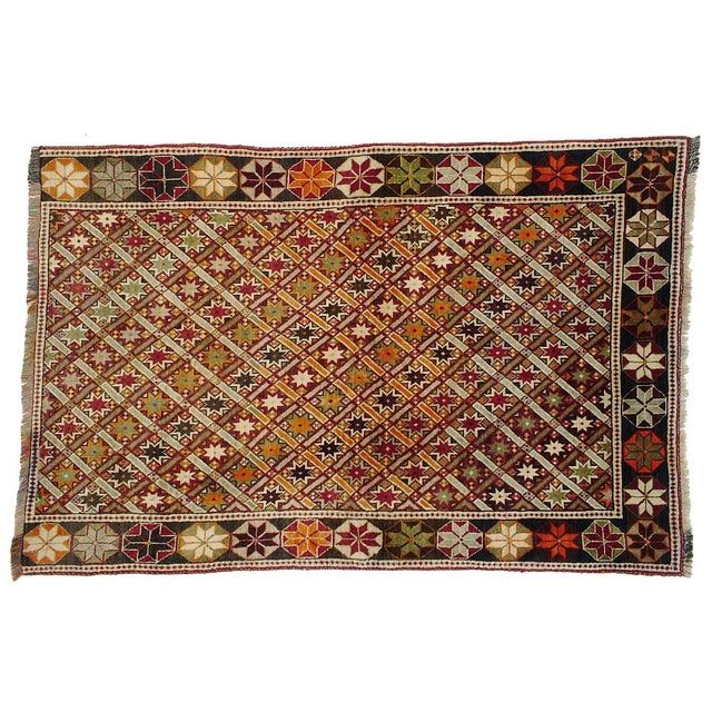 "Vintage Persian Qashghai Rug - 4'3"" X 6'5"" For Sale"