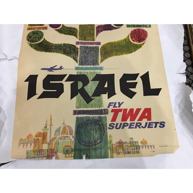 1960 David Klein 'TWA Israel' Poster For Sale - Image 7 of 9