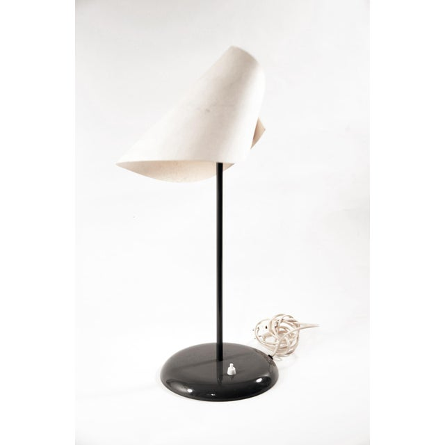 """Man Ray """" Lalune sous le chapeau """" table lamp ca.1973 Conditions : shade is slightly stained due to age. MEASUREMENTS..."""