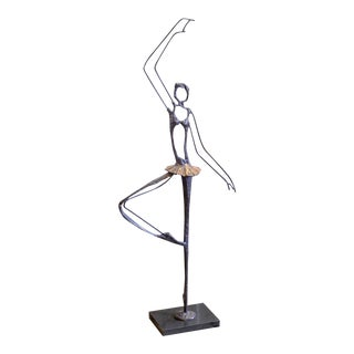 Vintage Ballerina Sculpture in the Style of Curtis Jere For Sale