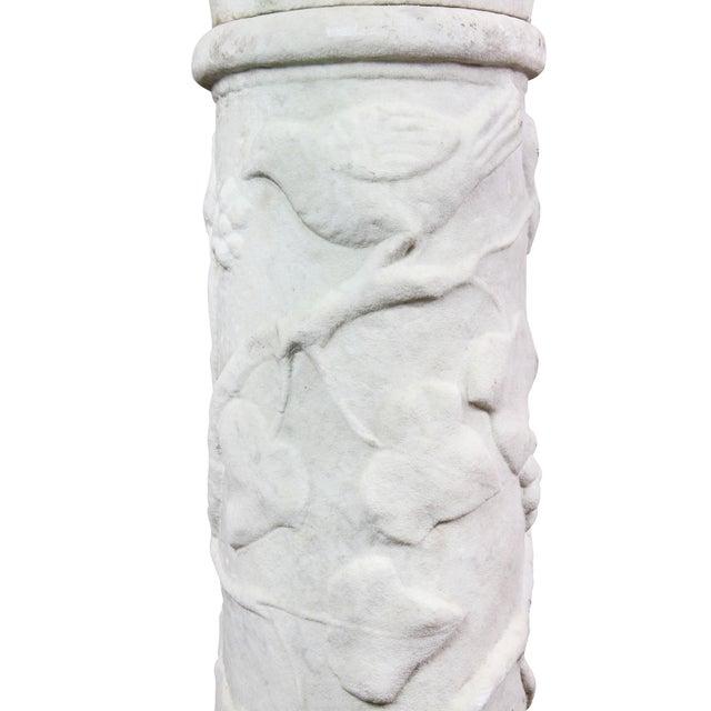 Mid 19th Century Italian Carrara and Antico Verde Marble Column For Sale - Image 5 of 10