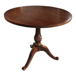 Chippendale Ethan Allen Pineapple Accent Table For Sale