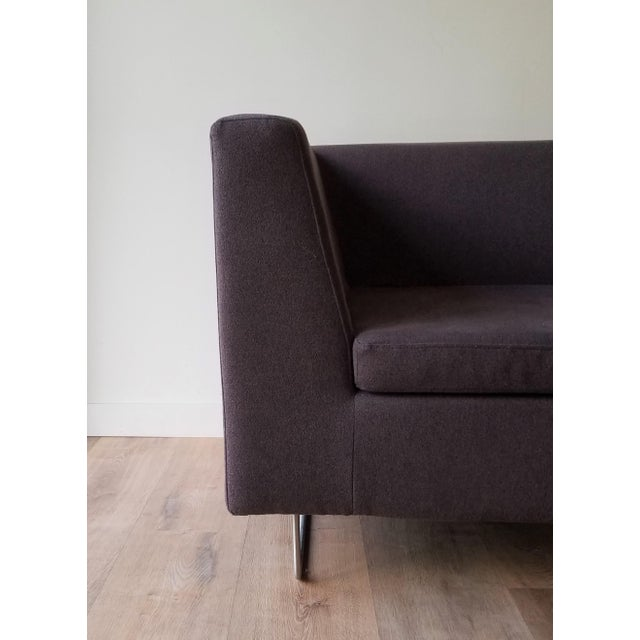 Contemporary Blu Dot Bonnie Sofa in Conduit Charcoal For Sale In Seattle - Image 6 of 12