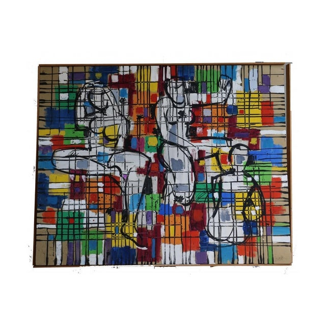 "Alvin M. Cohen Vintage ""Images In Colors"" Painting For Sale"